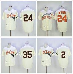 Houston Colts Jersey M N 24 Jimmy Wynn Jersey 35 Joe Morgan 2 Nellie Fox  Cream Vintage 1964 Turn Back Stitched Retro Baseball Size M-XXXL 9d5b6e61e