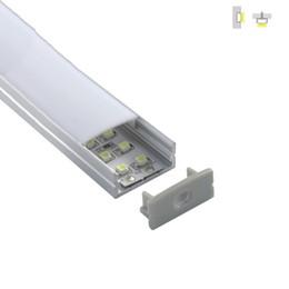 2019 luz de teto plana led 500 X 2 M sets / lote tipo Liso perfil de alumínio led habitação U estilo perfil de alumínio extrusão led para luzes de teto de parede desconto luz de teto plana led