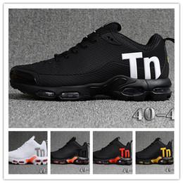 Zapatos de vestir de aire online-Mercurial TN Plus para hombre diseñador de zapatos casuales 2019 para los hombres ocasionales TPU Air Cushion Women Dress entrenadores al aire libre senderismo zapatos para correr 36-46