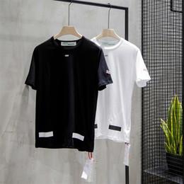 2019 camicia di stampa dell'ancora di bianco dell'uomo 2019 Estate moda tendenza T-shirt causale tee Hip Hop Magliette mens designer tshirt. OFF1