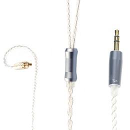 Mmcx кабели онлайн-Оригинальный кабель наушников TRN V10 V20 0,75 мм 0,78 мм MMCX Посеребренная бескислородная медная проволока - MMCX