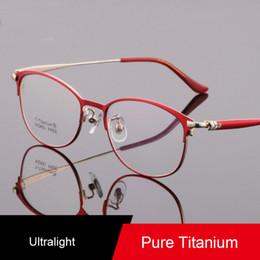 a9a8a7e178982 Puro titanium óculos ópticos das mulheres dos homens armações de óculos  ultraleves de negócios óculos claro miopia óculos rodada óculos à venda  vidros de ...