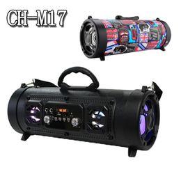 Mikrofon 3d online-M17Portable Bluetooth Lautsprecher Hifi FM Radio Bewegung KTV 3D Wireless Surround Sound Einheit TV Sound Bar Subwoofer 15W Outdoor Lautsprecher Mikrofon