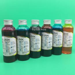 encre Promotion 100 ML x 6 bouteilles 85N T0851N-T0856N Encre Comestible Pour Stylus T60 BK C M L imprimante LC Ink