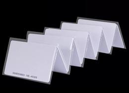 cerradura de pistola inteligente Rebajas 100Pcs al por mayor a prueba de agua 13.56mhz etiqueta, tarjeta MIFARE Classic 1K, tarjeta en blanco Iso14443a RFID Tarjeta de pvc RFID de alta calidad