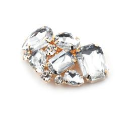 Encantos del zapato de la boda online-Encantador 1 unids cristal rhinestone encanto metal boda nupcial zapatos de tacón alto clips