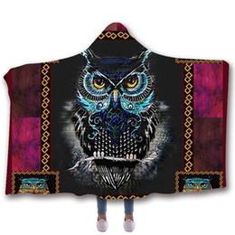 Coruja encapuçado on-line-SOFTBATFY Coruja Com Capuz Cobertor De Lã Cobertor De Lã Dropshipping