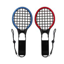 Paquete de cambio online-DOBE Switch Colorful Raqueta de tenis para Nintendo Switch Joy-Con Controllers Grips para juegos somatosensoriales Aces 2 Pack