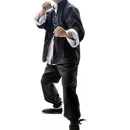 3PCS Mens Brucelee  Suit Chinese Traditonal Clothing Wing Chun Martial Arts Wear Training Uniform Male Long Sleeve Sets от