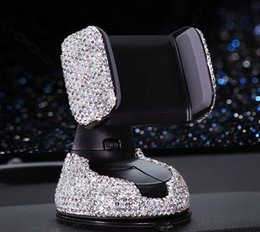 Suporte do telefone gps do carro cheio de diamantes mat anti escorregadia mat dashboard telefone móvel mp3 titular suporte de montagem de cristal glitter strass de Fornecedores de almofadas adesivas telefone