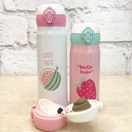 Крышка термос онлайн-Cute Fruit Jump Cover Stainless Steel Mug Student Portable Cute Children Women Kettle Thermos Bottle School Beker