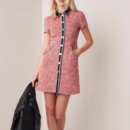 alta qualidade vestidos de festa para as mulheres Desconto 2019 Alta Qualidade Estilo MAJE Verão Runway Dress Mulheres Elegante Mini Vestido Feminino Senhora Do Escritório Vestidos de Festa