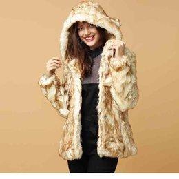 e0c041012fb Cute Style Women s Winter Warm Fuzzy Ball Designed Ears Hooded Faux Fur  Thick Coat Pockets Matching Out Wear Beige TA02800086
