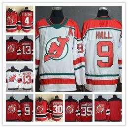 2019 New Jersey Devils Ice Hockey 9 Taylor Hall 13 Nico Hischier 35 Cory  Schneider 30 Martin Brodeur Scott stevens CCM Retro Jerseys 74ae2e508