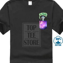 2019 camiseta al por mayor bolsillo Tiny Rick Pocket Men Black Tees Shirt Wholesale Discount Tshirt Loose Black Short Sleeve Cotton Hip Hop T-shirt Print Tee Shirts camiseta al por mayor bolsillo baratos