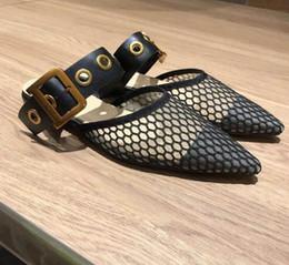 Zapatos planos usados online-Las zapatillas de primavera de la marca D se utilizan ampliamente con tacón plano baotou y zapatos muller