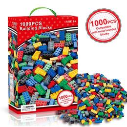 1000 Peças Modelo Kits de Construção de Blocos Clássicos DIY Brinquedos Tijolos Criativos Figuras Em Massa Educacional Para Crianças Crianças Compatível Todas as Marcas de