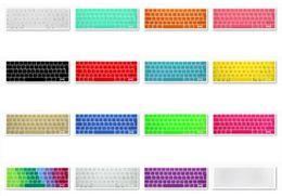 tabletas de piel clara Rebajas A1706 A1707 Protector de piel del teclado del arco iris italiano del Reino Unido para Macbook nuevo con Touch ID, negro rosa púrpura verde azul dorado