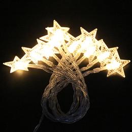Ha portato le luci stellate a stella online-Luci a LED decorazione LED Stelle Fili di rame LED delle luci leggiadramente di Natale decorazioni di nozze batteria Operate scintillio si illumina DHL