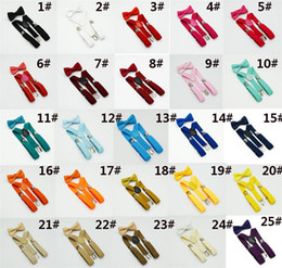 32 cores Crianças Suspensórios Bow Tie Set para 1-10 T Bebê Cintas Elásticas Y-back Meninos Meninas Suspensórios acessórios dc245 de Fornecedores de tática de qualidade