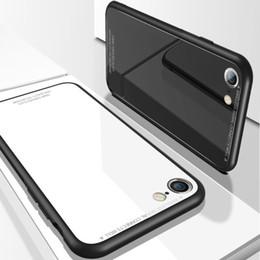housses de téléphone cellulaire en gros Promotion Coque de téléphone portable en verre peint coque de téléphone mobile Apple X coque en verre creative 7 couverture de protection 6plus usine en gros