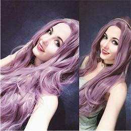 2019 longue perruque violette ondulée Livraison Gratuite De Mode Synthétique Dentelle Avant Perruques 24