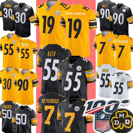 Watt shorts on-line-55 Devin Bush Jersey Pittsburgh 19 Juju Smith-Schuster Steelers Jersey 7 Ben Roethlisberger 30 James Conner T.J. Watt Ryan Shazier Jerseys