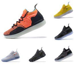 Scarpe calde kd online-Vendite calde Kevin Durant 11 Scarpe da pallacanestro scarpe firmate Zoom off uomo KD 11s running Scarpe da ginnastica bianco rosso KD EP Elite Sneaker bassa sport