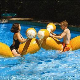 Vente de jeux gonflables en Ligne-Sports aquatiques d'été flotteurs gonflables épaississement bonne stabilité sécurité jeu flotteur piscine portatif pli PVC vente chaude 55lsI1