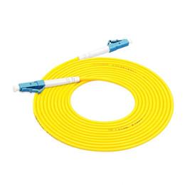 Cabo de patch de fibra lc on-line-3,0 milímetros 1M ~ 50M LC / UPC-LC / UPC G657A1 LSZH FTTH Simplex patch cord de fibra óptica FTTH transporte livre cabo de ligação em ponte óptica fibra monomodo