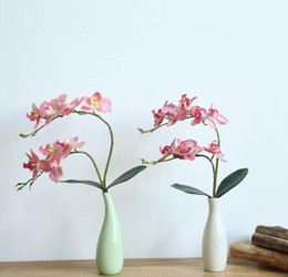 bouquet vase Promo Codes - desktop display decoration artificial flowers Vase decorative flower arrangement artificial flower home wedding decoration fake flower