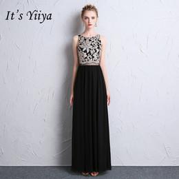 2019 weinlese formale kleidmuster Es ist YiiYa Vintage Pattern Prom Kleider elegante O-Ausschnitt aushöhlen Abendkleider rabatt weinlese formale kleidmuster