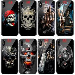 2019 iphone couvre crânes iphone cas 64 moteur de crâne rouge lèvres verre TPU souple Couverture de téléphone pour Iphone X XS XR XSMAX Samsung S10e s10 + Huawei P20 MATE20 promotion iphone couvre crânes