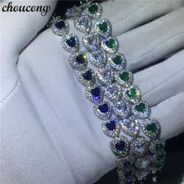 2019 luxus-weißgold gefüllt armband Choucong 3 Farben Herzform Armband 5A Zirkonia Weißgold gefüllt Partei Hochzeit Armbänder für Frauen Luxus Jewerly rabatt luxus-weißgold gefüllt armband