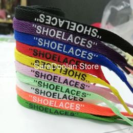 Argentina Top venta al por mayor Mall SHOELACES enlace de pago cordones OW 10Colors Shoes Lace Suministro