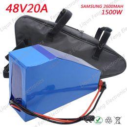 Canada Grand Triangle 48V 20AH batterie de vélo électrique pour Samsung cellule Lithium Ion fit 1000W 1500W 2000W Moteur E-bike Scooter Kit + Sac cheap e bike kit battery Offre
