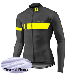 Giacca invernale online-GIANT team Cycling Winter Thermal Fleece jersey Cycling Jacket Antivento Bicicletta Abbigliamento MTB Bike 53129
