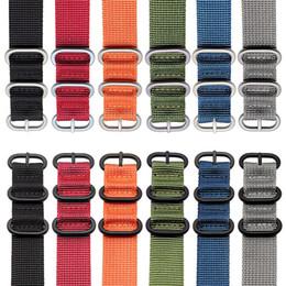 2019 brazaletes zulú 6 colores resistentes de nylon pulsera NATO ZULU pulsera de rayas arco iris lienzo reloj reloj de reemplazo 18mm 21mm 20mm 22mm brazaletes zulú baratos