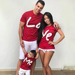 Partidas únicas on-line-Dia dos Namorados Matching Clothes Mãe Filha Família T Shirt me love Mommy DauClothesghter Família Correspondente Mãe Filha