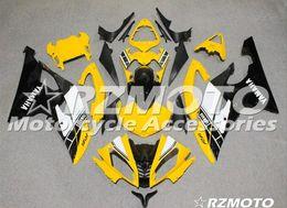 R6 giuntatura gialla online-Nuovi kit carenatura completa ABS adatti per YAMAHA YZF-R6 08-16 anno YZF600 2008 2009 2010 2011 2011 2015 Set carrozzeria R6 Personalizzato Giallo