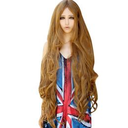 Parrucca del partito naturale 100cm della ragazza parrucca sintetica lunga  del partito di modo parrucca sintetica Piccoli capelli ricci lanuginosi  onde ... 258e674730b