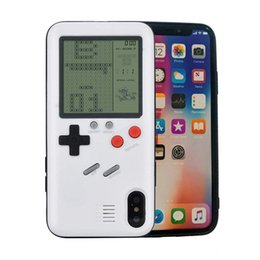 3D Ретро Тетрис Консоль для Видеоигр для iPhone X Case ЖК-Экран Портативный Игровой Плеер Симпатичный Прочный Чехол для iPhone 6 6s 7 8 Plus от