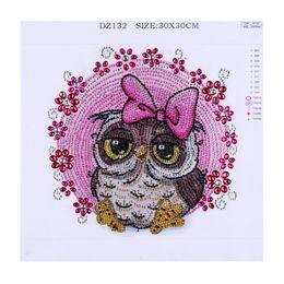 Diamante 5d diamante fiore rotondo online-New Diy 5d pittura diamante cartone animato animale paesaggio fiore diamante rotondo mosaico decorazione domestica ricamo schema punto croce
