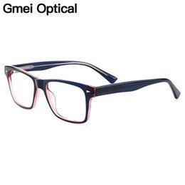26f0d0309e Gmei Óptico Voguish Cuadrado Borde Completo Gafas de Los Hombres Marco de  Los Vidrios Para Miopía Presbicia Lectura Anteojos Recetados H8010