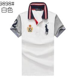 Camisas de corrida para homens on-line-18SS Frete Grátis camisa Dos Homens de verão M-XXLShort manga polos Algodão country racing movimento estilo dos homens Camisas Venda Quente