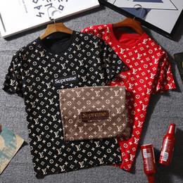QN 815 SUPRE T-Shirt bb Kurzarm O-Ausschnitt TEE Kanye West Brief drucken Sportwear Großhandel Männer Frauen von Fabrikanten