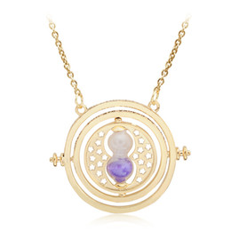 Collana harry potter online-Harry Time Turner Potter Collana Clessidra Ciondolo vintage Collana Hermione Granger in argento dorato
