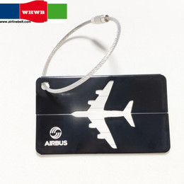 etiquetas de aerolíneas Rebajas Perfecto Airbus / Boeing aerolínea etiquetas de equipaje del avión avión plateado etiquetas de viaje tarjeta de identidad de bloqueo especial para los amantes del vuelo