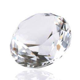 Wholesale Vente chaude pc Cristal Blanc K9 Verre Cristal Clair Artificielle Diamant Coupe En Verre Presse papiers De Mariage Bijoux Artisanat bizuteria