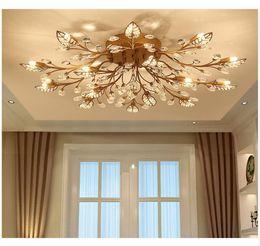 Hot Modern Nordic K9 Kristall LED Deckenleuchten Leuchte Gold Schwarz Hause Lampen für Wohnzimmer Schlafzimmer Küche Badezimmer von Fabrikanten